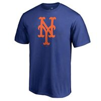 New York Mets Logo Short Sleeve Royal Blue T-Shirt Baseball Thor Wright Conforto
