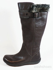 Camper Girls Brown Leather Zip Suede & Fur Trim Boots UK 12 EU 30 RRP £70