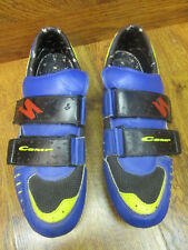 VINTANGE SPECIALIZED COMP BLUE & YELLOW TRIM ROAD CYCLING SHOES EURO 45 US 11.5