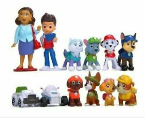 PAW PATROL CAKE TOPPERS 10 PLASTIC FIGURES  AND MAT