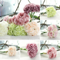 XMAS Wedding Latex Real Touch Peony Flowers 5X/Bouquet Home Party Festival Decor