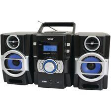 NAXA NPB429 Portable CD/MP3 Player with PLL FM Radio, Detachable Speakers & Remo