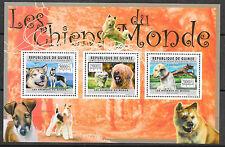 Hunde/ Guinea MiNr 8912/14 ** Kleinbogen