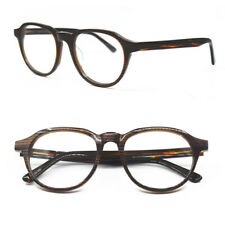 Vintage Acetate Medium Brown Tortoise Full Rim Eyeglass Frames Unisex Myopia