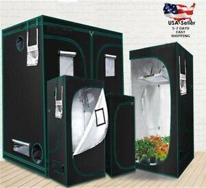 Hydroponics Grow Tent Grow Box Dark Room Mylar Growing Greenhouse Indoor Plants