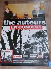THE AUTEURS - AFTER MURDER PARK TOUR!!Affiche promo / French promo poster !!!!!