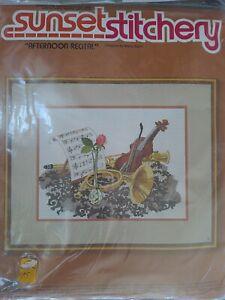 Sunset Stitchery Crewel Kit Afternoon Recital 2202 Wool Yarn 1979 NOS Vintage
