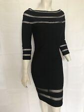 NWT Tadashi Shoji Dress Stretch Black Budican Knee-length Dress Sz S