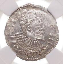 POLAND. Sigismund III, Silver 3 Groschen, 1596, Bromberg, NGC MS62