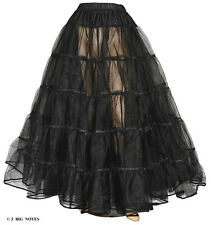 "New Black Crinoline 4 Victorian Civil War Dress Size L/Xl W 35""-50"" Length 40"""