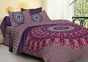 Hippie Elephant Paisley Mandala King Size Tapestry Indian Bedding & Pillow Cover