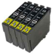 4 Black T1291 non-OEM Ink Cartridge For Epson Stylus SX430W SX435W SX438W
