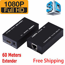 HDMI LAN Ethernet Extender Over Single Cat5E/ Cat6 RJ45,Up To 200Ft 1080P MG