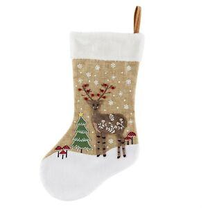 Sass &Belle Winter Wonderland Deer Christmas Stocking Xmas Tree Home Decoration