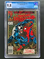 Amazing Spider-Man 375  CGC 9.8  Newsstand  White Pages  Holo-Grafx Cover  Venom