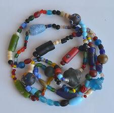 XXL Antique Venetian African Glass Trade Bead Wedding Necklace Padre Millefiori
