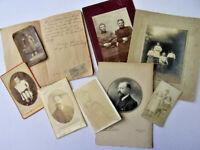 Lot carnet manuscrit loyers + timbres et photos originales 1880