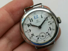 WW1 Very rare omega watch from 1915 with 12 bleu -from the trench, 36 mm Working