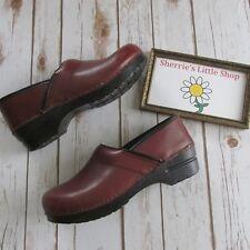 New Dansko Professional Men's Women's Brown Box Leather Clogs Shoes size 41