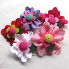 Fabric Scrapbooking Flower Embellishments