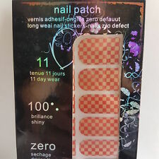 Brand New 16 Red & Gold Chessboard Design Nail Foils for Nail Art
