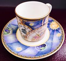 "Royal Doulton ""Millénaire"" H5263 Bone China une demi-tasse collector's Cup & Saucer"