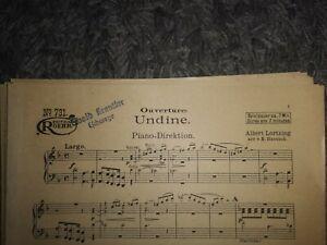 Salonorchester Noten von Albert Lortzing - UNDINE - Ouvertüre