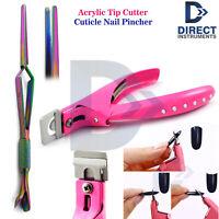 Acrylic Tip Cutter Artificial Fake False Nail Clipper Nail Pincher Nails Cleaner