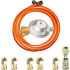 Manguera de gas propano + regulador presión 2017 Standard 30 o 50mbar 40-500cm