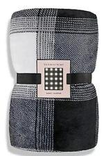 New! Victoria's Secret Blanket Plaid Fleece Cozy Plush Blanket 50� x 60�
