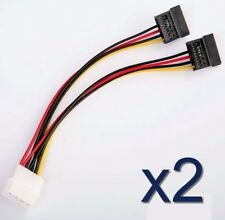 2x Adaptateur molex vers 2x SATA femelle /2x Molex to 2x SATA Female Power Cable