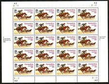 1993 CHEROKEE STRIP LAND RUN CENTENNIAL Full MNH Pane 20 29 Cent US Stamps #2754