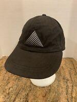 Vintage Labatt Ice Beer Black Gray Embroidered Stretch Back Hat Cap