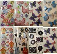 Small Shapes Paper Embellishment Toppers Decorate Albums Invites Favours Choose
