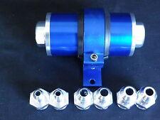 BILLIT FUEL FILTER BLUE INC BRACKET 60 MM SS ELEMENT  6 - 8 - 10 AN FITTINGS