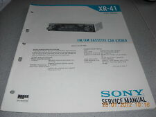 SONY XR-41 FM/AM Cassette Car Stereo Service Manual