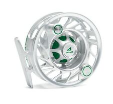 Hatch 4 Plus Finatic Reel with Case NEW ~ Mid Arbor ~ Clear / Green Closeout