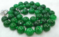 """Beads Necklace 18"""" Charming! 10mm Emerald Gemstone"""