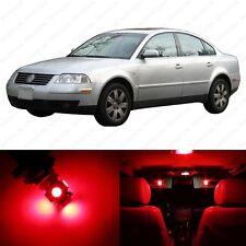 13 x Brilliant Red LED Interior Light Package For 1998 - 2005 VW Passat B5