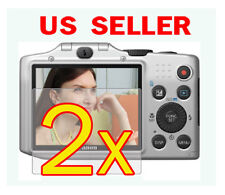 2x Canon PowerShot SX160 IS Clear LCD Screen Protector Guard Shield Film