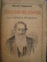 NICCOLO' TOMMASEO-DIZIONARIO SINONIMI LINGUA ITALIANA-BIDERI ED. NAPOLI 1898