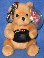 TY BEANIE BABY KEY CLIPS - DEKE the BEAR - CANADA EXCLUSIVE - MINT TAGS