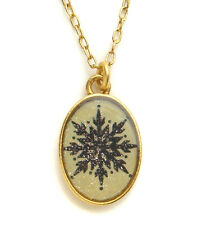 Maximal Art Necklace Silhouette Snowflake Christmas Gold John Wind Jewelry