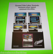VIDEO LOTTERY TERMINALS By DYNAMO ORIGINAL NOS ARCADE GAME MACHINE SALES FLYER