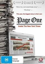 Page One - Inside The New York Times (DVD, 2011)-REGION 4-Brand new-Free postage