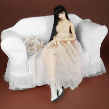 [Dollmore]  Model doll size - Romaellie Fabric Double Sofa Cover (White)
