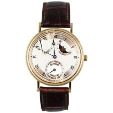 BREGUET 18K Yellow Gold Classique Moon Phase Automatic Wristwatch Ref 3130