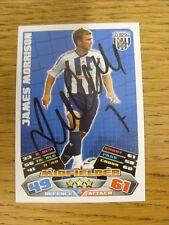 """2011/2012 AUTOGRAFO: West Bromwich Albion-Morrison, James [firmato a mano """"Topps"""