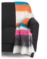 "Glendal New in Pkg Safavieh 50 x 70-inch Wool Striped Throw Blanket 50"" x 70"""