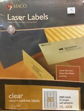 MACO Laser/Ink Jet Matte Clear Return Address Labels, 1/2 x 1-3/4 Inches,2000 CT